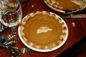 Pumpkin pie just in time for Thanksgiving
